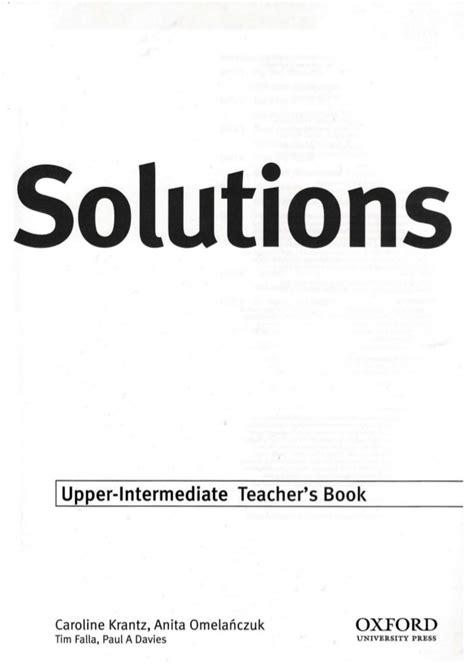 Solutions upper intermediate-tb