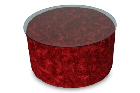 red velvet ottoman monroe 18 quot round ottoman red lux lounge efr 888 247 4411