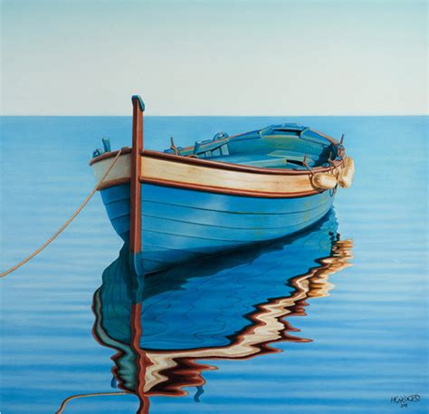 fishing boat art work waiting for the crew art print by horacio cardozo