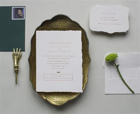 Wedding Invitations Handmade Paper by Copper Foil Wedding Invitations On Handmade Paper