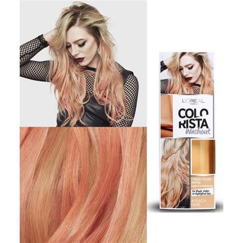 l oreal l or 233 al paris colorista washout pastel peach hair