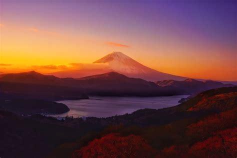 wallpaper mountains sunset hill sunrise evening