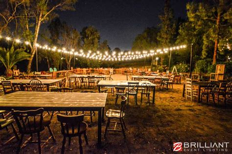 backyard wedding lighting backyard wedding reception market lights