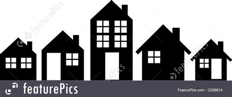 pack  houses silhouette illustration