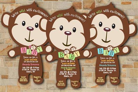 Mod Monkey Baby Shower Invitations by Safari Jungle Baby Shower Invitations Boy Mod