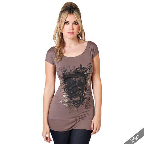 61 best t shirt shorts womens skull print glitter shirt hip length