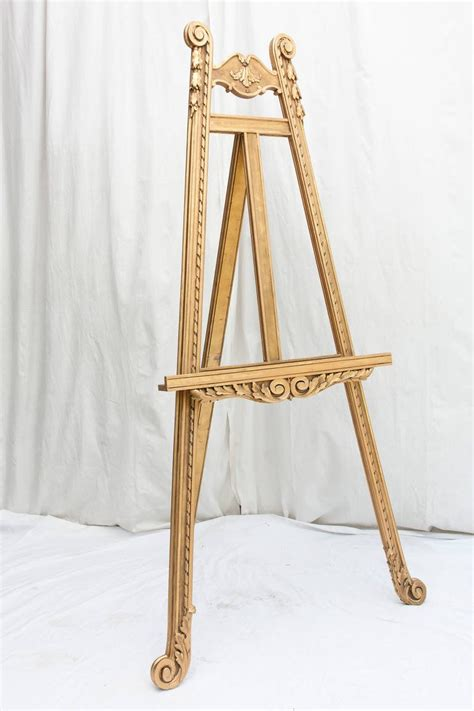 Decorative Floor Easel Stands stunning 19th century giltwood floor easel at 1stdibs