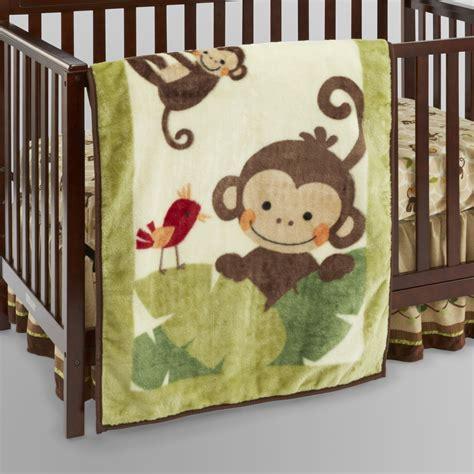monkey baby bedding lambs ivy tickles hi pile peeking monkey blanket baby