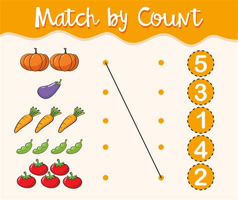 math worksheet template  matching numbers