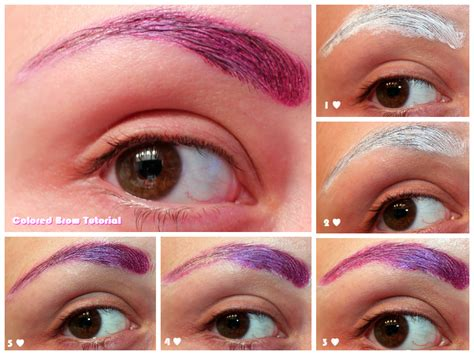 colored brows luhivy s favorite things colored gradient brow tutorial