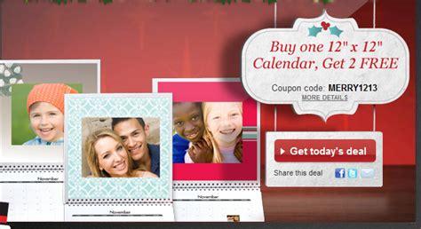Calendar Deals Snapfish Snapfish Three Custom 12x 12 Photo Calendars For 25 00