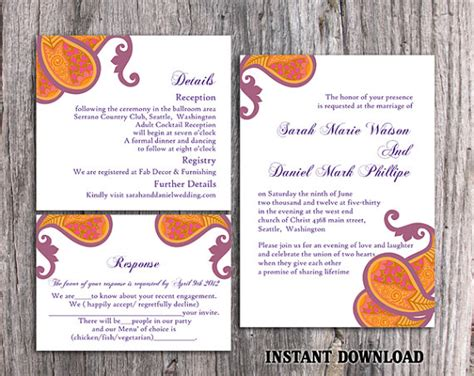 Indian Wedding Invitation Editable Templates