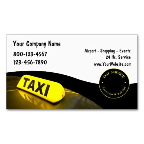 Business Card Template For Taxi Driver by 257 Best Taxi Business Cards Images On