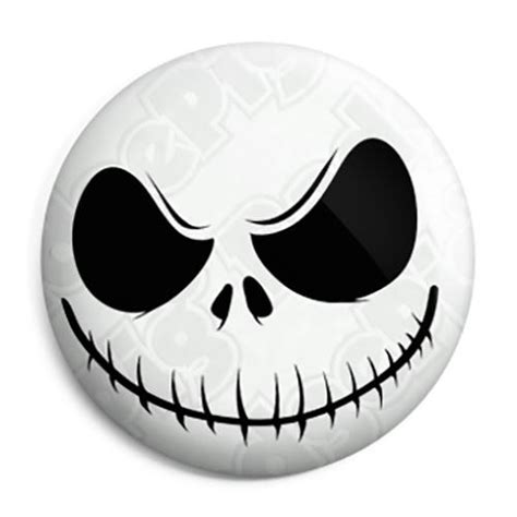 jack skellington skull smiley button badge magnet key