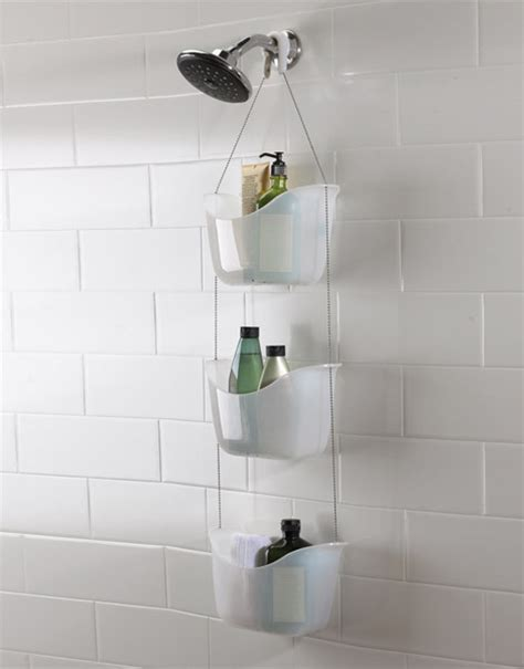 umbra bask white hanging bathroom shower tidy white