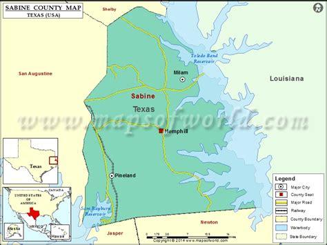 sabine county texas map sabine county map texas