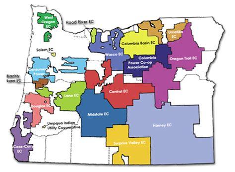 service oregon service area midstate electric cooperative