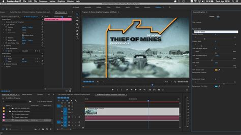 Adobe Adds New Essential Graphics Workflow To After Effects And Premiere Studio Daily Adobe Premiere Text Effects Templates