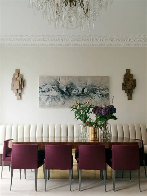 burgundy dining room decorating with berry hues and mustard colors decoholic