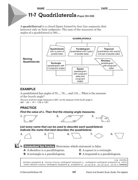Glencoe Mcgraw Hill Geometry Worksheet Answers by Glencoe Pre Algebra Worksheets Answers Glencoe Pre
