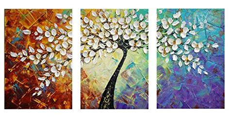 decorative paintings for home amoy art hand painted knife modern canvas wall art floral