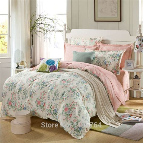 pink and green bedding 100 cotton pink rose and mint green bedding set with