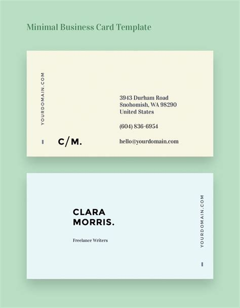 sle business cards templates free 25 best ideas about minimal business card on
