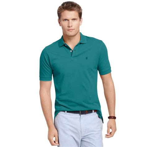 Kaos Polos Pendek Solid Teal 1 izod big and sleeve solid pique polo shirt in green for teal lyst