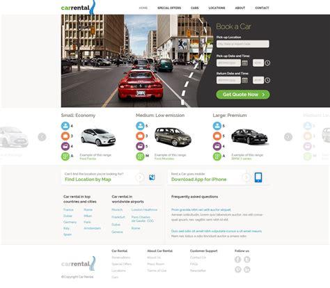 Free Rent A Car Template Car Rental Website Template Phpjabbers Rental Website Templates