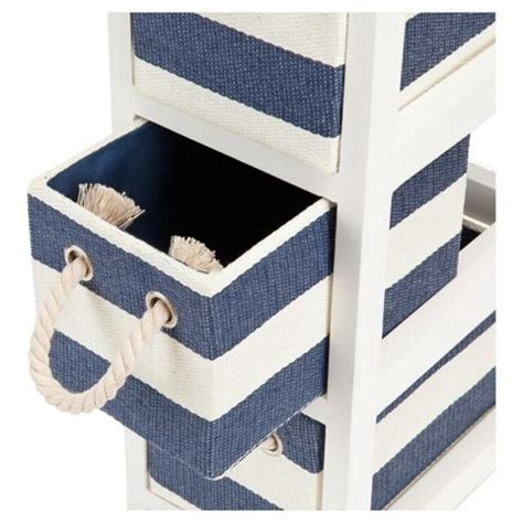 Canvas Drawers Storage Unit by Buy Nautical Canvas 4 Drawer Storage Unit From Our Storage