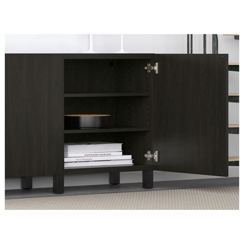 besta 90 cm best 197 storage combination with doors lappviken black brown
