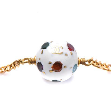 chanel soccer pendant charm bracelet 48765