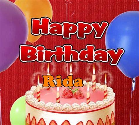 happy birthday design with name happy birthday rida happy birthday