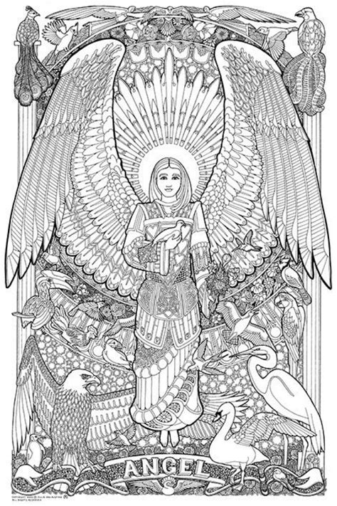 printable angel coloring pages  adults