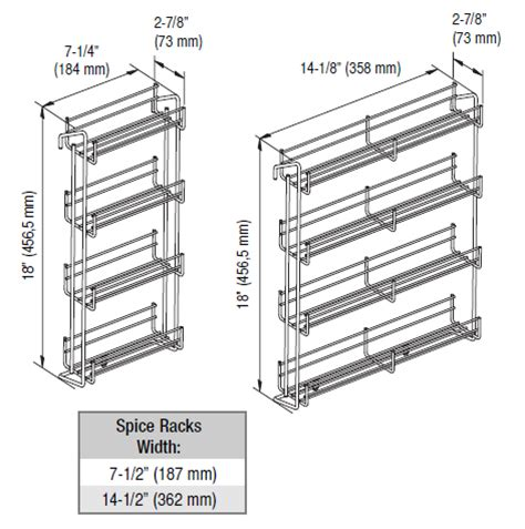 Wire Spice Rack Door Mount by Spice Racks Door Mounted Spice Racks By Vauth Sagel