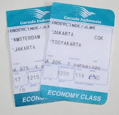 tiket bussiness garuda parts of airlines ticket all about business information