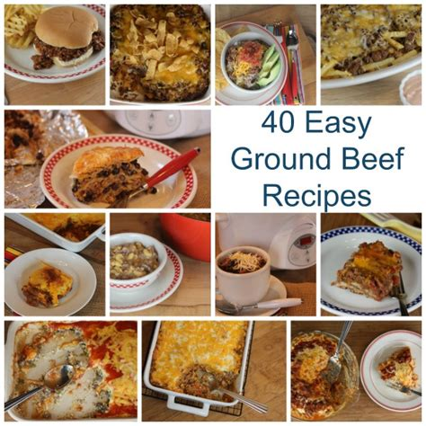 40 ground beef recipes