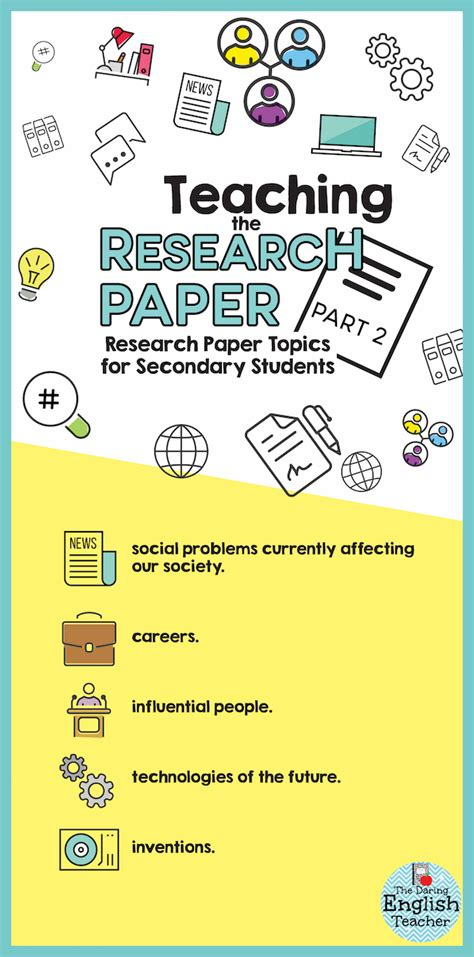 Sle Research Paper Topics For High School Students Science Fair Research Paper Exle Quot Research Paper Topics For Secondary Students The Daring