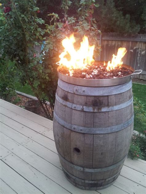 diy copper pit burner wine barrel pit cooking pot from mexican flea market