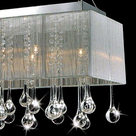 Modern Rectangular Dining Room Chandelier 32 Quot Gocce Modern String Shade Rectangular