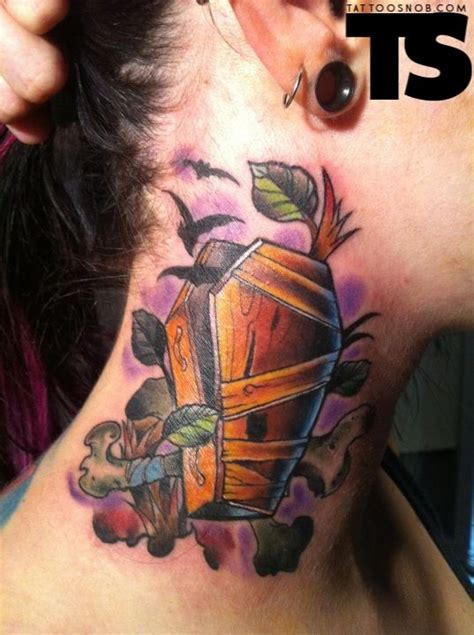 coffin tattoo by tatu baby