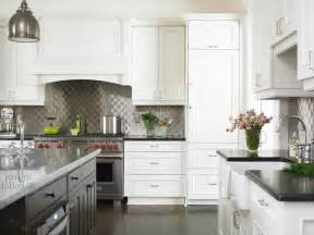 Kitchen Backsplash With White Cabinets Quilted Backsplash Transitional Kitchen Emily