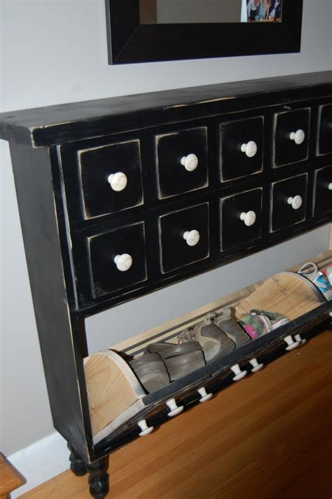 Shoe Dresser white apothecary shoe dresser diy projects