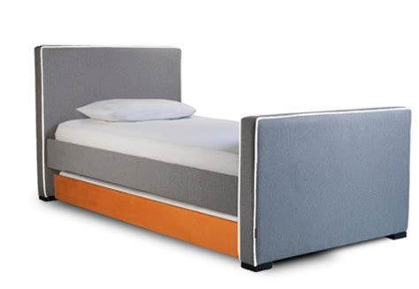 Modern Trundle Bed by Modern Dorma Upholstered Bed With Trundle Furniture By Monte Design