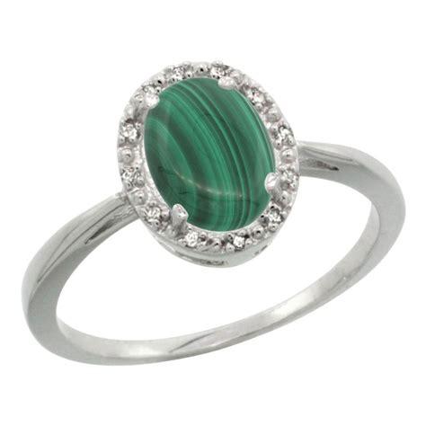 1 69 ctw malachite engagement ring 10k