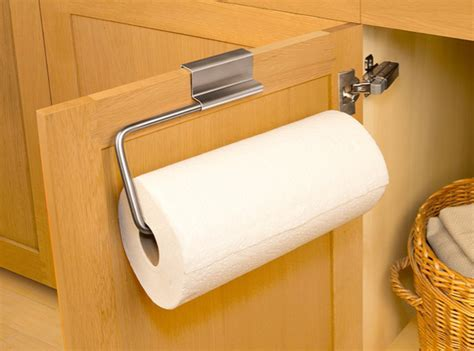 over the cabinet paper towel holder 50 rv organization ideas space saving hacks never