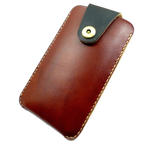Handmade Leather Cell Phone Holsters - samsung s6 edge mobile phone holster waist pack waist bag