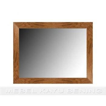 Cermin Kayu cermin pigura kaca kayu jati minimalis polos