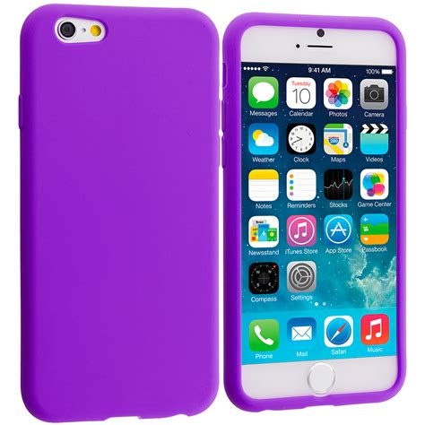 for apple iphone 6s plus 5 5 silicone rubber soft skin cover accessory ebay