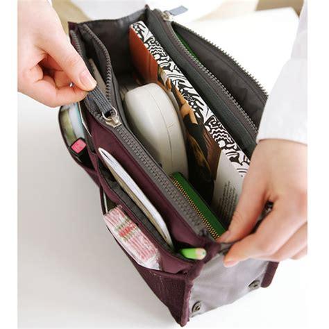 Korean Cosmetic Bag Travel Organizer Tas Tempat Kosmetik korean inside outside insert handbag makeup cosmetic purse travel organizer bag ebay